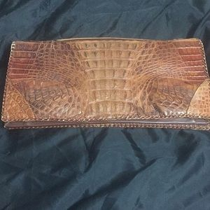 Exotic vintage crocodile clutch bag